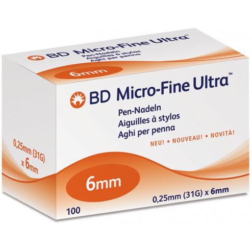 BD Micro-Fine ULTRA, 6 mm - Pen Nadeln, 100 Stück