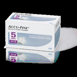 Accu-Fine sterile Nadeln für Insulinpens 5 mm 31 G, 100 Stück
