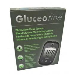 Gluceofine Blutzuckermessgerät - 1 Set mg/dl bzw. mmol/l (umschaltbar)