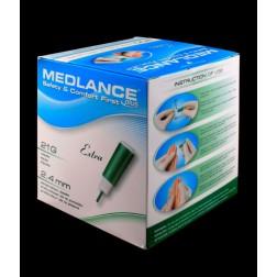 Medlance Plus Extra - Sicherheitslanzetten 21G - 2,4 mm, 200 Stück