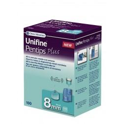 Unifine Pentips plus 8 mm - Pen Nadeln, 100 Stück