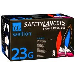 Wellion 23G - Sicherheitslanzetten, 200 Stück