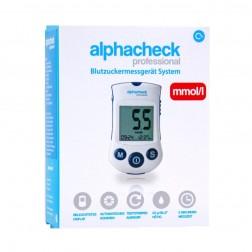 Alphacheck Professional Blutzuckermessgerät - 1 Set mmol/l