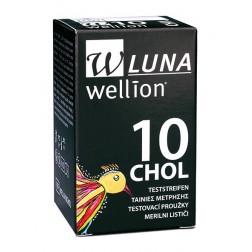 Wellion LUNA Cholersterol-Teststreifen, 10 Stück