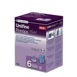 Unifine Pentips plus 6 mm - Pen Nadeln, 100 Stück