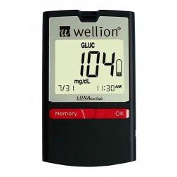Wellion Luna DuoStyle Blutzuckermeßgerät - 1 Set, mg/dl + 5 Cholersterin Teststreifen