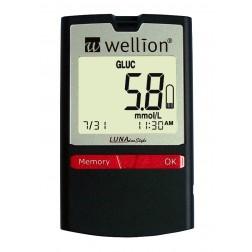 Wellion Luna DuoStyle Blutzuckermeßgerät - 1 Set, mmol/l + 5 Cholersterin Teststreifen