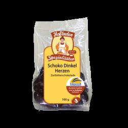 Schoko-Dinkel-Herzen Zartbitter, 100g, 1 Stück