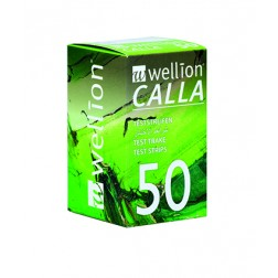 Wellion Calla Blutzuckerteststreifen, 50 Stück