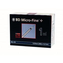 BD Micro-Fine+ U 100, 1,0 ml, 0,33 x 12,7 mm, 100 Stück
