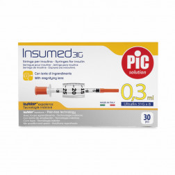 Insumed Insulinspritzen U 100, 0,3ml, 31 G, 0,25 x 8 mm, 30 Stück