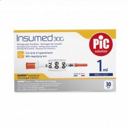 Insumed Insulinspritzen U 100, 1,0ml, 30 G, 0,30 x 12,7 mm, 30 Stück