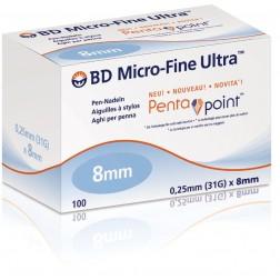 BD Micro-Fine ULTRA, 8 mm - Pen Nadeln, 100 Stück