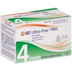BD ULTRA-Fine PRO, 0,23 x 4 mm 32G - Pen Nadeln, 105 Stück