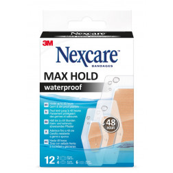 Nexcare Max Hold waterproof Pflasterstrips, 12 Stück