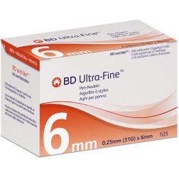 BD ULTRA-Fine 0,25 x 6 mm, 31G - Pen-Nadeln, 105 Stück