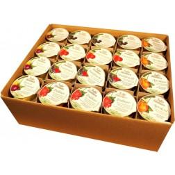 Marmelade Sortiment zuckerreduziert 22 g*, 100 Stück (gemischt)