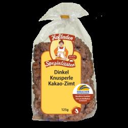 Dinkel-Knusperle-Kakao & Zimt, 125 g, 1 Stück