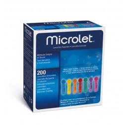 Microlet coloured - Lanzetten, 200 Stück