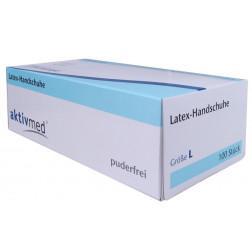 Aktivmed Latexhandaschuhe Einmal puderfrei L, 100 Stück
