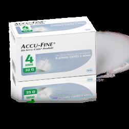 Accu-Fine sterile Nadeln für Insulinpens 4 mm 32 G, 100 Stück