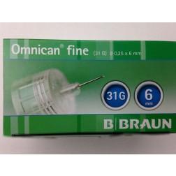 Omnican fine 0,25 x 6 mm 31G - Pen Nadeln, 100 Stück