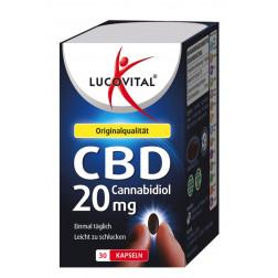 Lucovital Cannabidiol CBD Kapseln 20 mg in 2,8%, 30 Stück