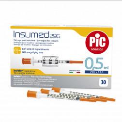 Insumed Insulinspritzen U 100, 0,5ml, 29 G, 0,33 x 12,7 mm, 30 Stück