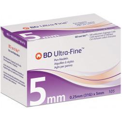 BD ULTRA-Fine, 0,25 x 5 mm 31G - Pen Nadeln, 105 Stück