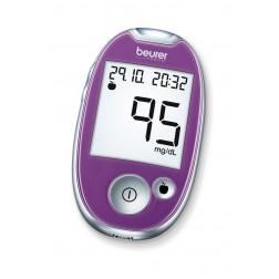 Beurer GL 44 Blutzuckermessgerät - 1 Set mg/dl - Lila (Purple)