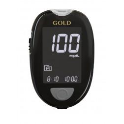 GlucoCheck Gold Blutzuckermessgerät - 1 Set,  mg/dl, 1 Stück