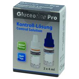 Gluceofine Pro - Kontrolllösung Normal + Hoch, 2 x 4 ml, 1 Stück