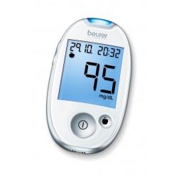 Beurer GL 44 Blutzuckermessgerät - 1 Set mmol/l - Weiß (White)