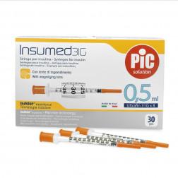 Insumed Insulinspritzen U 100, 0,5ml, 31 G, 0,25 x 8 mm, 30 Stück