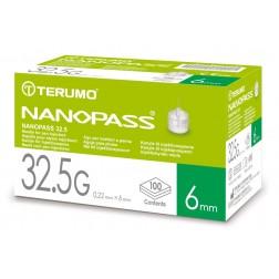 Terumo NanoPass 32,5G 0,22 mm x 6 mm - Pen Nadeln, , 100 Stück