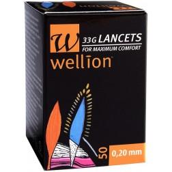 Wellion 33G steril Lancets, 50 Stück