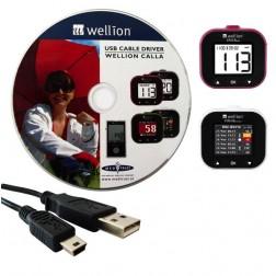 Wellion Calla USB - Kabel mit Treibersoftware / Set, 1 Stück