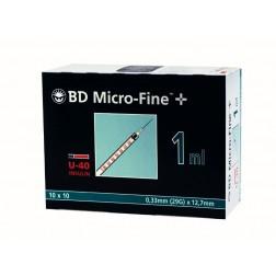 BD Micro-Fine+ U 40, 1,0 ml, 0,33 x 12,7 mm, 100 Stück