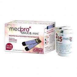 Medpro Maxi & mini Blutzuckerteststreifen, 50 Stück